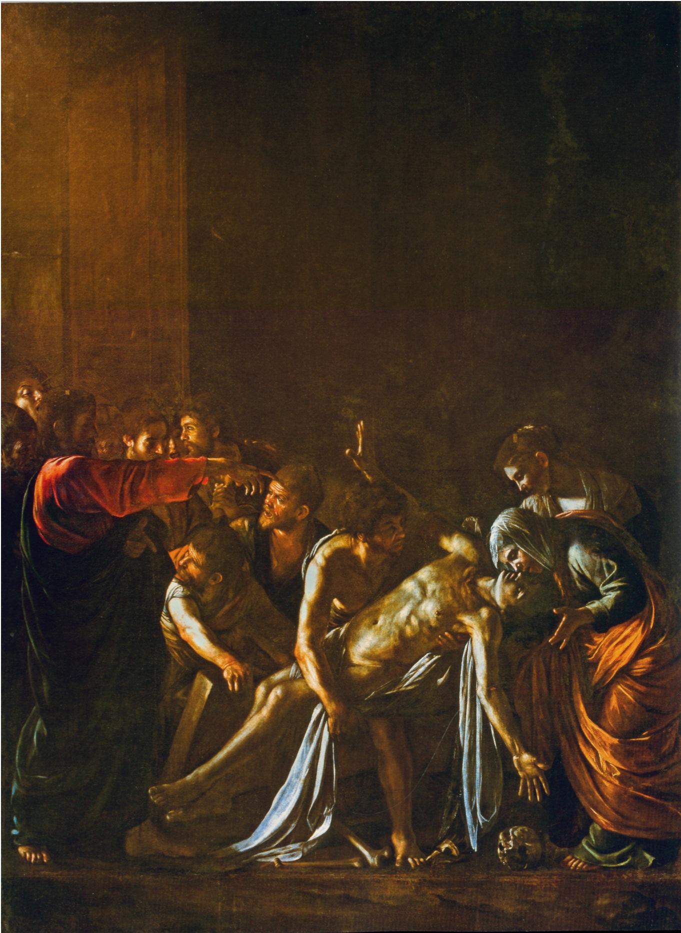Караваджо - Воскрешение Лазаря 1608-1609
