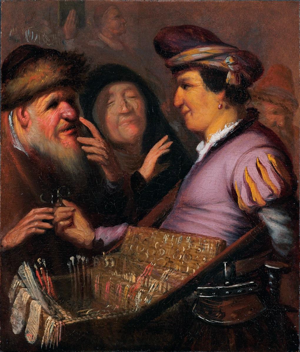 Рембрандт ван Рейн - Торговец очками. Зрение 1625