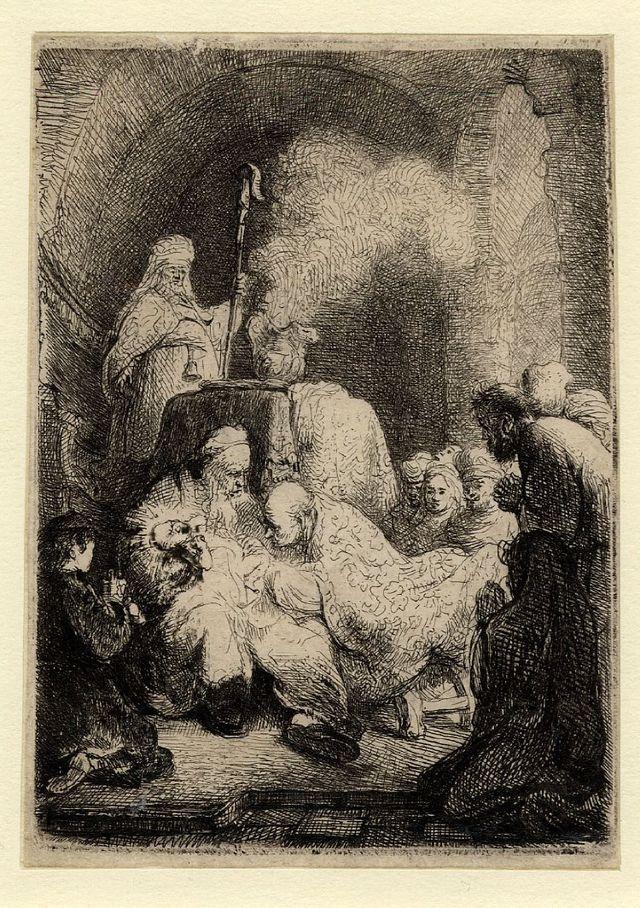 Рембрандт ван Рейн - Обрезание 1630