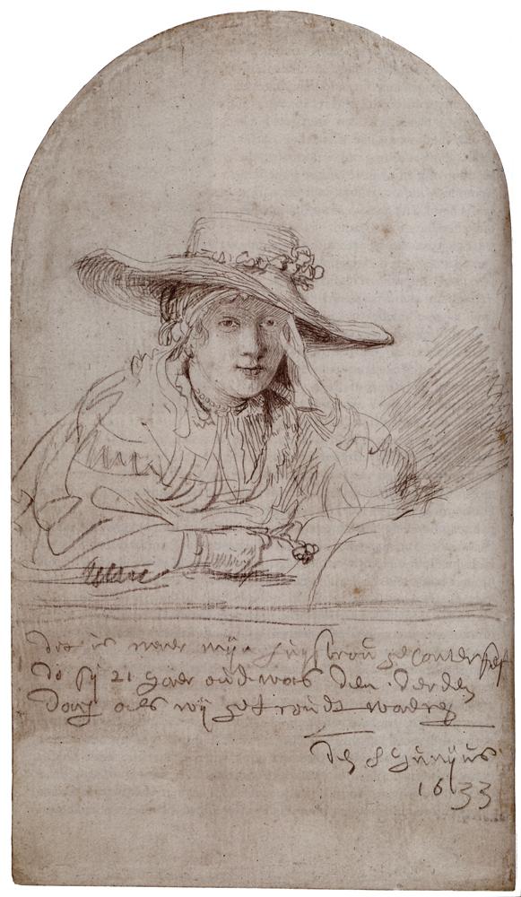 Рембрандт ван Рейн - Саския в соломенной шляпе 1633 | Золотой век  голландской живописи Барокко | ArtsViewer.com